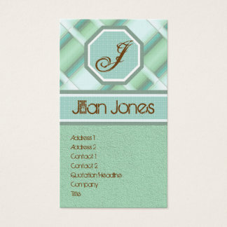 Plaid Fashion Business Cards