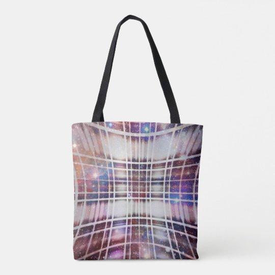 Plaid Galaxy Tote Bag