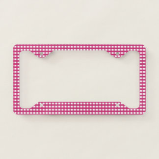 Plaid Gingham Design License Plate Frame
