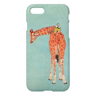 Plaid Giraffe & Little Bird iPhone 7 Case