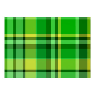 Plaid Green Yellow Poster
