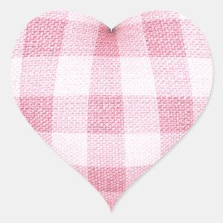Plaid Heart Heart Sticker