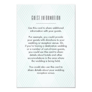 Plaid-ish Guest Information Insert Card