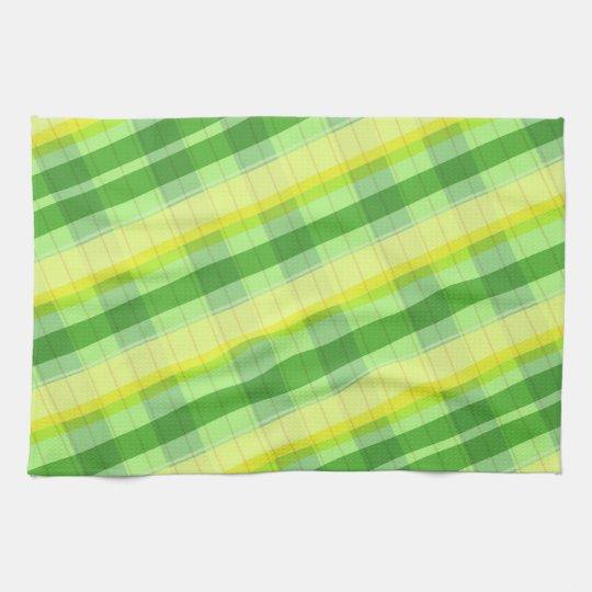 Plaid kitchen towels green