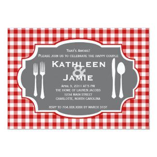 Plaid Knife & Fork Invitation