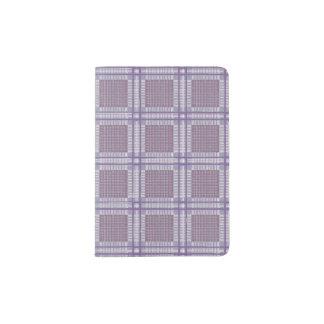 Plaid lavender, plum and purple passport holder