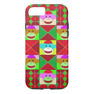Plaid monkeys. iPhone 7 case