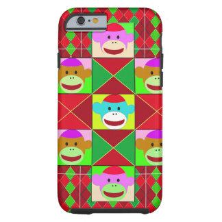 Plaid monkeys. tough iPhone 6 case