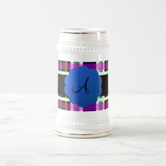 Plaid monogram coffee mug