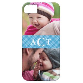 Plaid Monogram Photo iPhone 5 Case