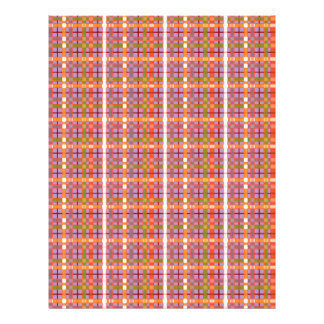 Plaid-on-African-Violet-Background Pattern Personalized Letterhead