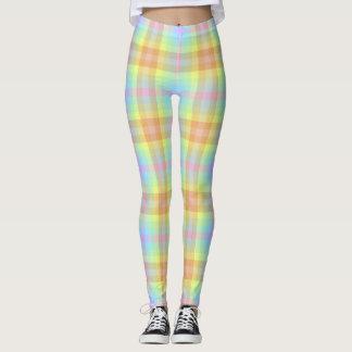Plaid Pastel Rainbow leggings