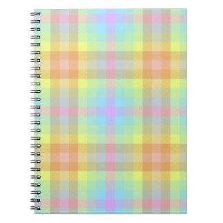 Plaid Pastel Rainbow notebook