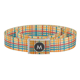 Plaid pattern belt