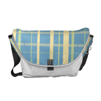 Plaid Pattern, Blue and Yellow Commuter Bags
