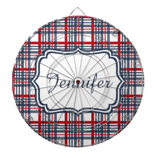Plaid pattern dartboard