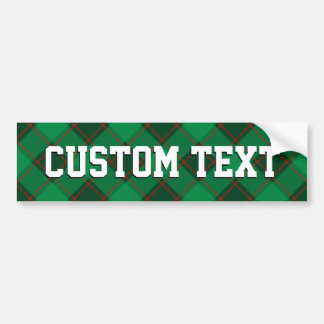 Plaid Pattern - Green and Red Bumper Sticker