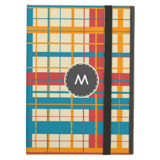 Plaid pattern iPad air cover