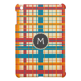Plaid pattern iPad mini cover
