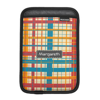 Plaid pattern iPad mini sleeve