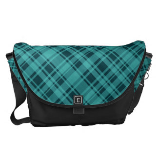 Plaid Pattern Large Messenger Bag