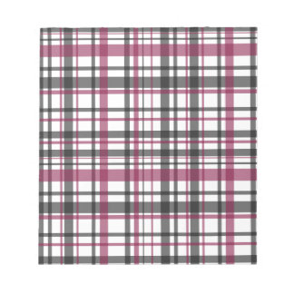 Plaid pattern notepad