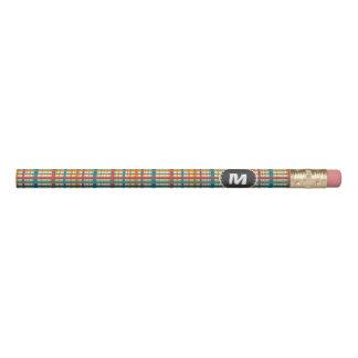 Plaid pattern pencil