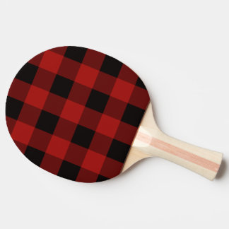 Plaid pattern ping pong paddle