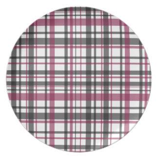 Plaid pattern plate