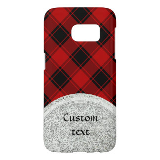 Plaid Pattern - Red and Black Samsung Galaxy S7 Case