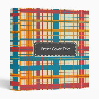 Plaid pattern vinyl binder