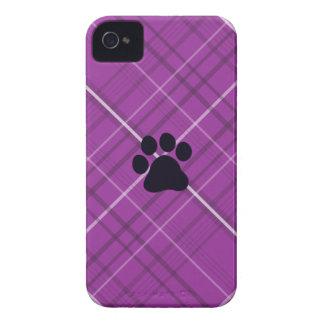 Plaid Paw Print Case-Mate iPhone 4 Case