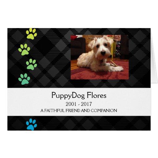 plaid paws pet loss memorial card