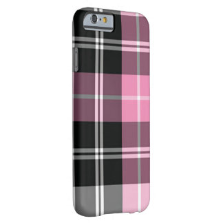 Plaid pink barely there iPhone 6 case