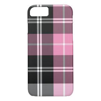 Plaid pink iPhone 7 case