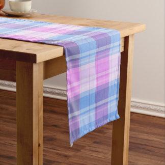Plaid purple table runner