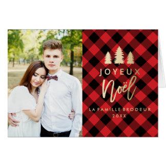 Plaid Rouge Joyeux Noël | Carte De Noël Card