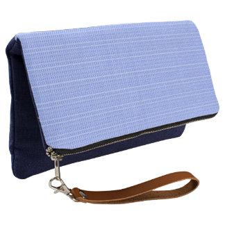 Plaid-Royalty-Fabric's(c)Blue_White_Multi-Colors Clutch