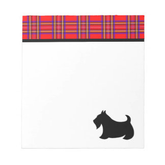 Plaid Scottish Terrier Notepad