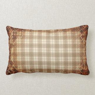 Plaid Snake Skin Lumbar Pillow