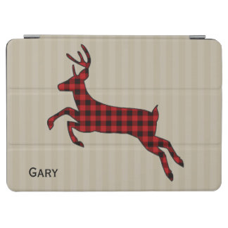 Plaid Stag on Stripes iPad Air Smart Cover iPad Air Cover