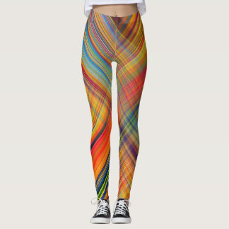 Plaid Striped Multi-Colored Leggings