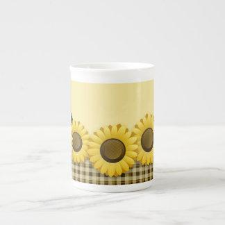 Plaid Sunflower Tea Mug