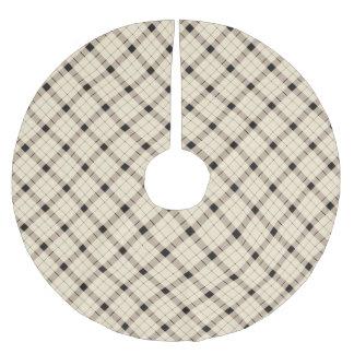 Plaid /tartan pattern brown and Black Brushed Polyester Tree Skirt