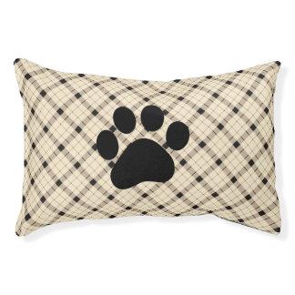 Plaid /tartan pattern brown and Black Pet Bed