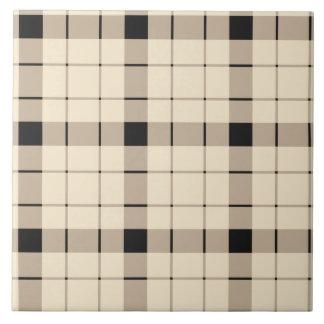 Plaid /tartan pattern brown and Black Tile