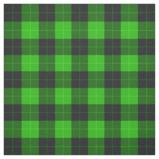 Plaid /tartan pattern green and Black Fabric