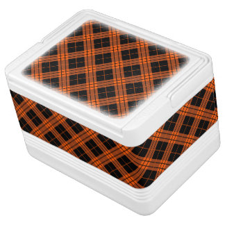 Plaid /tartan pattern orange and Black