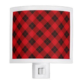 Plaid /tartan pattern red and Black Nite Light