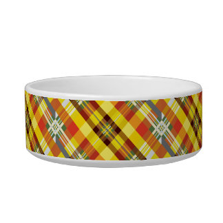 Plaid / Tartan - 'Sunflower' Bowl